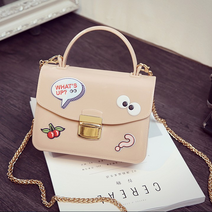 zm23130a latest ladies jelly hand bags new trendy shoulder silicone bag women