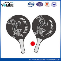 Eco reusable colorful red material plastic beach ball racket