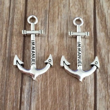 Fashion DIY Alloy Bronze Charms Anchor Shape Pendant Jewelry Accessories