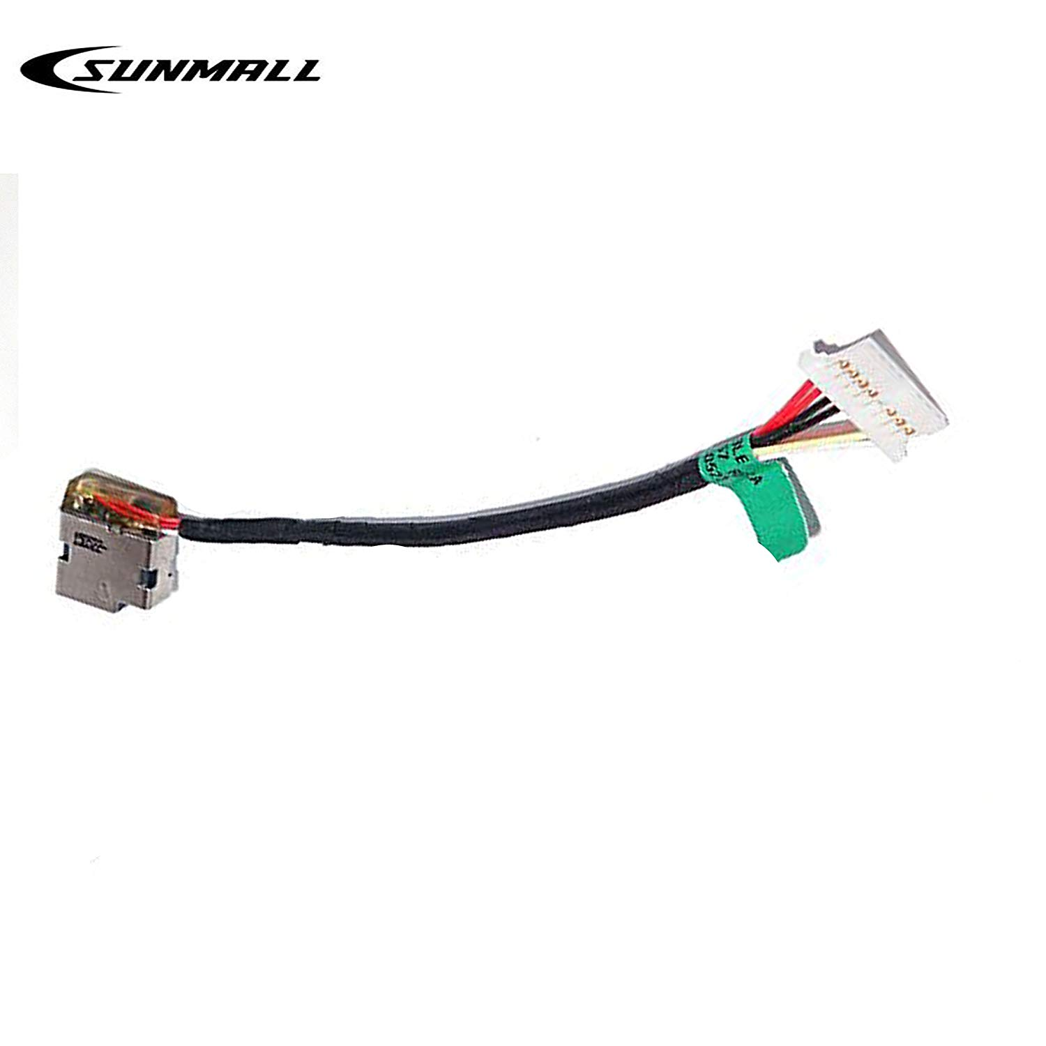 SUNMALL Replacement 799736-F57 799736-Y57 DC Jack Power Plug In Charging Port Connector Socket with Wire Cable Harness For hp 15-AC 15-AC163NR 15-AC063NR 15-AC113CL 15-AC121DX 15-AC161NR Series Laptop