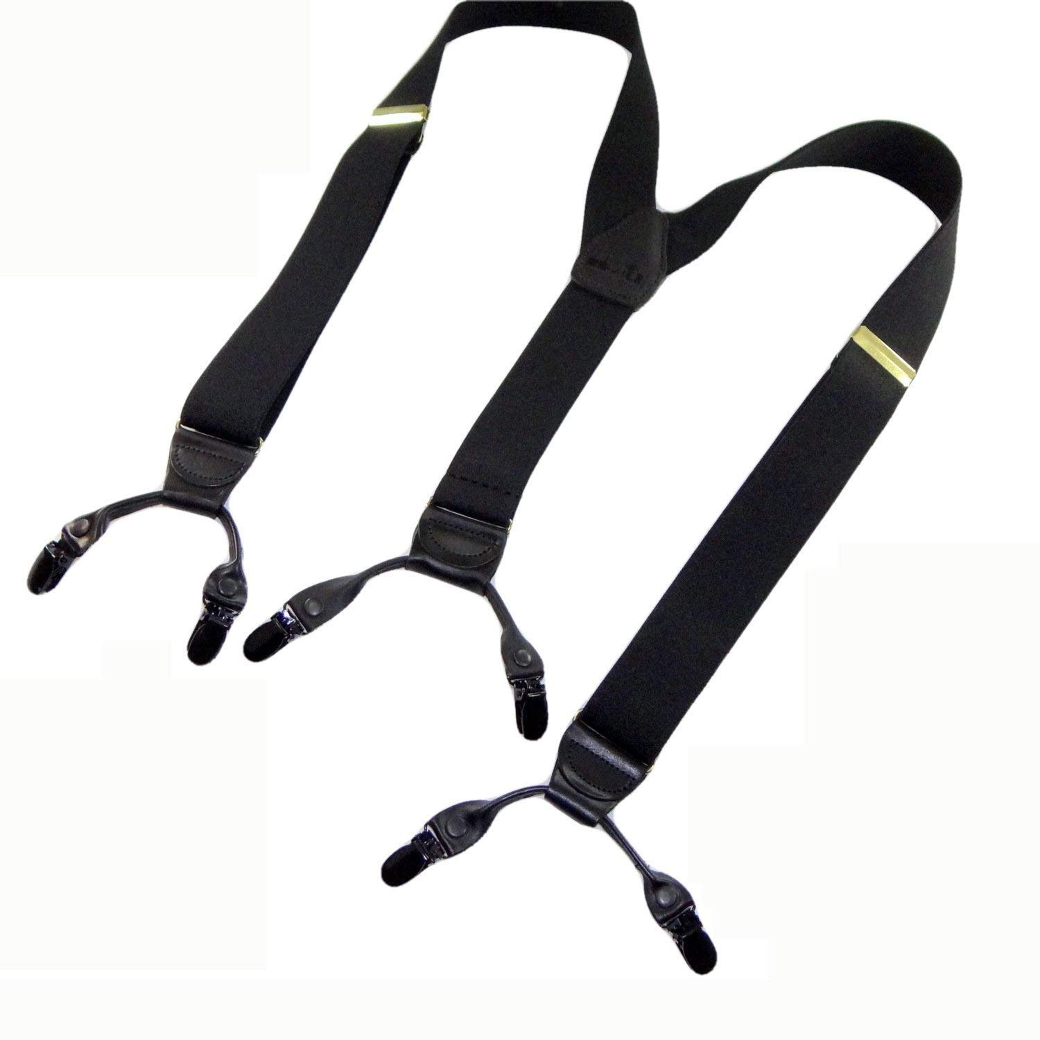 41516cd53fc Get Quotations · HoldUp Suspender Company new Black Pack dual clip  Double-Up Style Suspenders with black patented