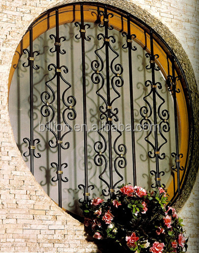 New Design Security Wrought Iron Window Grill Design