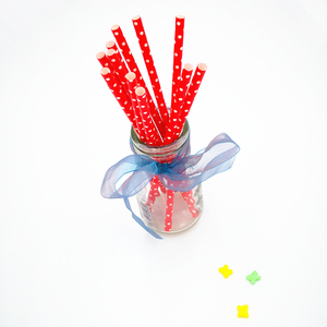 Multi Color Mixing Package Decoration Paper Straw For Drinking