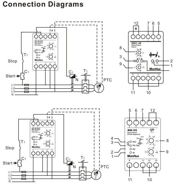 Phase Failure Relay Connection Diagram