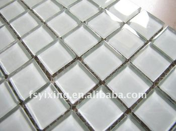 Ct bianco piastrelle in vetro mosaico di cristallo cucina parete
