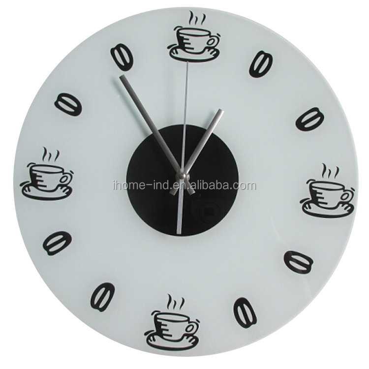 12 Inch Modern Wall Clock Simple Design Clear Glass Wall Clock