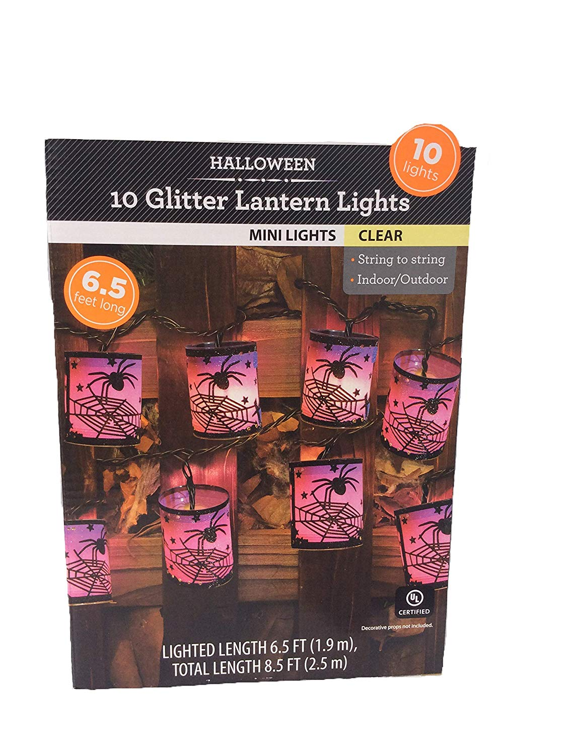 Get Quotations 10 Glitter Lantern Lights Mini Clear Spider String To Indoor