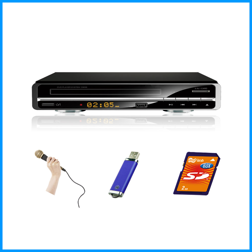 225mm DVD player with USB port LED display