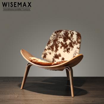 Replica Hans Wegner Three Legged Shell Chair Lounge Aviator Smile For The Living Room