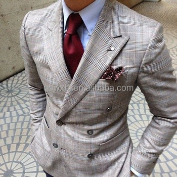 Tailored Office Uniform Double-breasted Fashion Busieness Suit Men ...