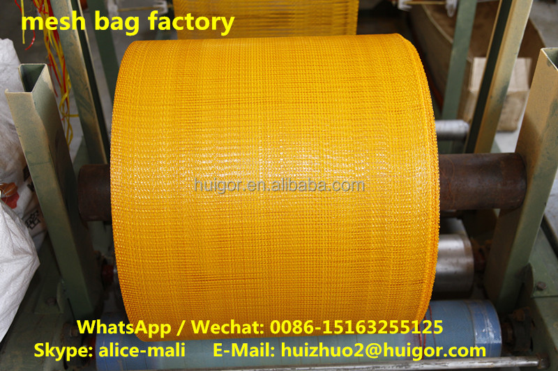 resuable agricultural PP mesh net onion bags roll china factory