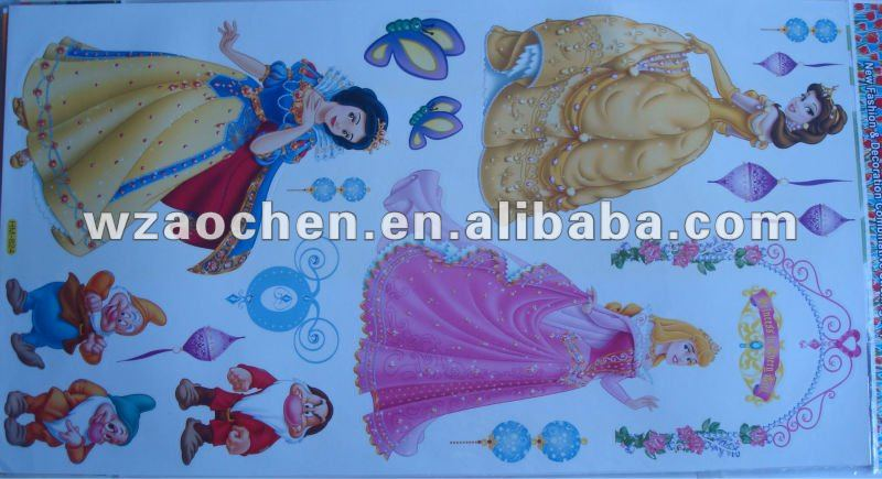 princess wall sticker for bedroom decoration