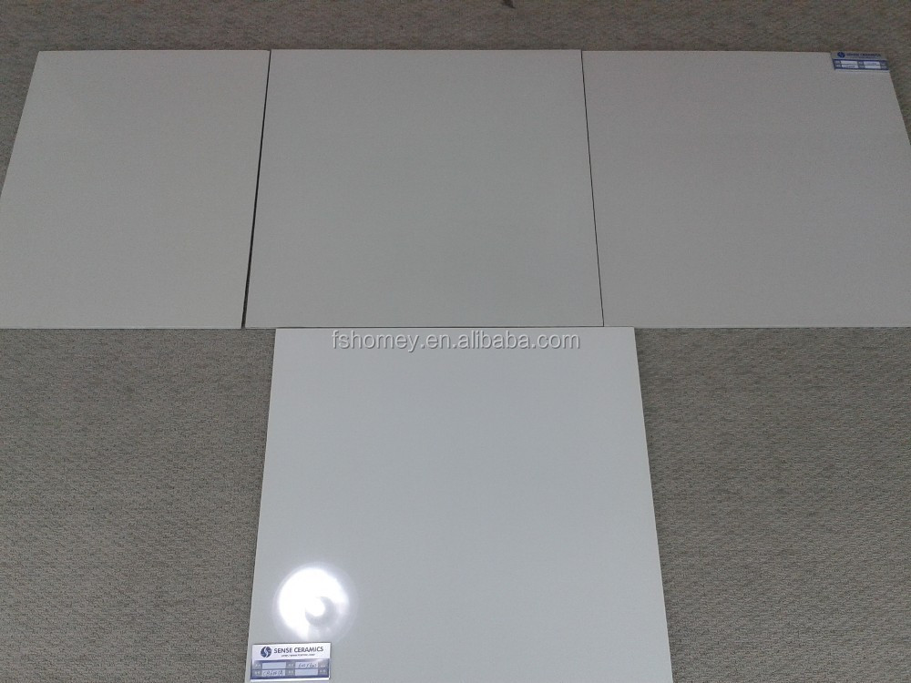 White Polished Porcelain Floor Tiles 600x600 In Different Whiteness