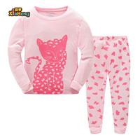 Bulk wholesale 100% cotton high quality pretty cat girls pajamas for home wear