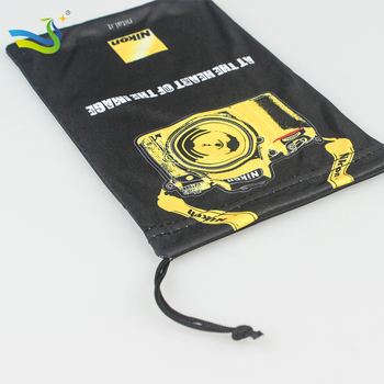 Drawstring microfiber mobile phone pouch and case with promotional price