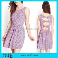 Boho clothing fashion dresses trendy summer floral cotton print dresses