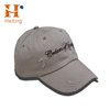 Custom embroidery logo 6 Panel distressed grey Dad Hat