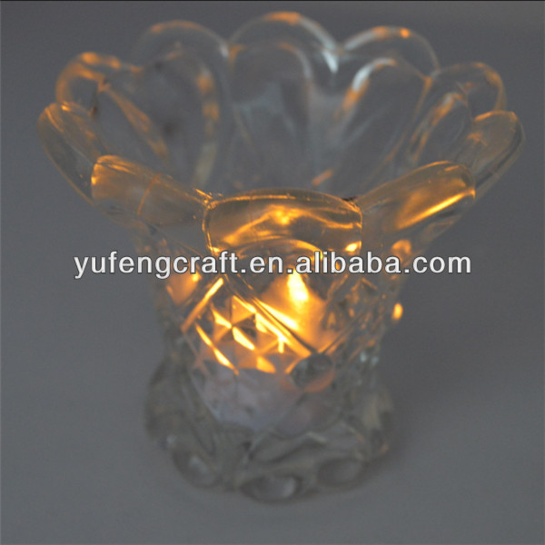 clear votive crystal candle holder