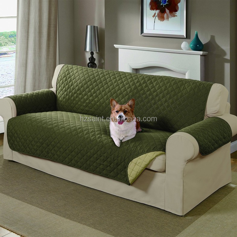 Anti Slip Reversible Microfiber Couch Cover For Pet Dog