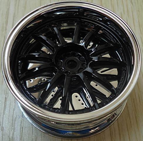 Rc 4 Pcs Plating Wheel Rim RC HSP HPI For 1/10 On-Road Drift Car