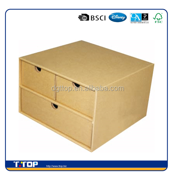 FSC & BSCI China Good Price Cardboard 3 drawer file cabinets