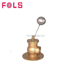Brass water level control flange floating ball valve
