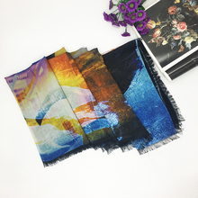 Hot Sale Women Fashion Custom Digital Print Silk Scarf
