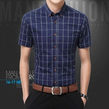 C10760a mode mann <span class=keywords><strong>plaid</strong></span> kurzarm casual shirt
