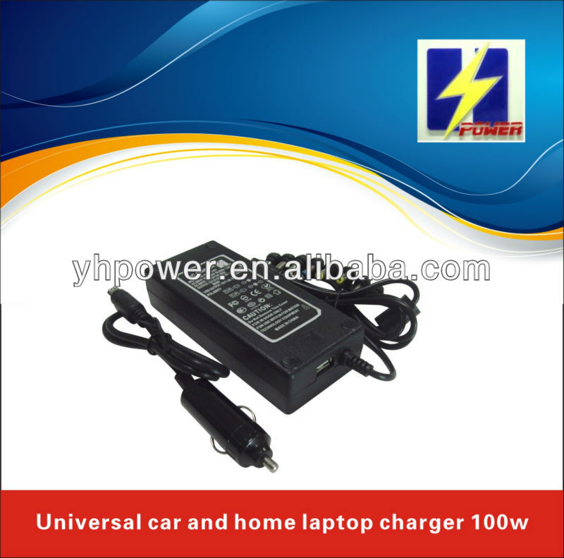 OEM car and home ac dc laptop adaptor 100w universal output