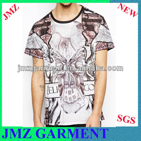 JMZ garment manufacturer/ sublimation prints t shirts