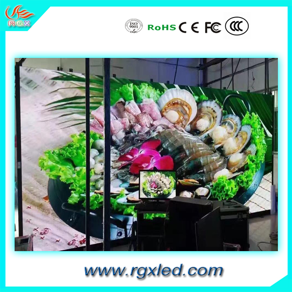 RGX full color tube chip color and outdoor usage China video dot P6.67 outdoor led display board