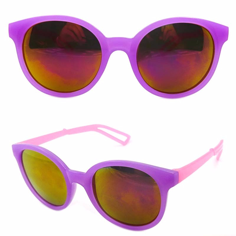 FJ brand wholesale custom free size sunglasses 2018 trendy kids purple sunglasses