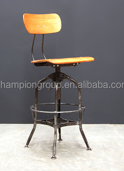 Bon French Industrial Kitchen Metal Bar Chairs, Industrial Bar Stool MX 0280H