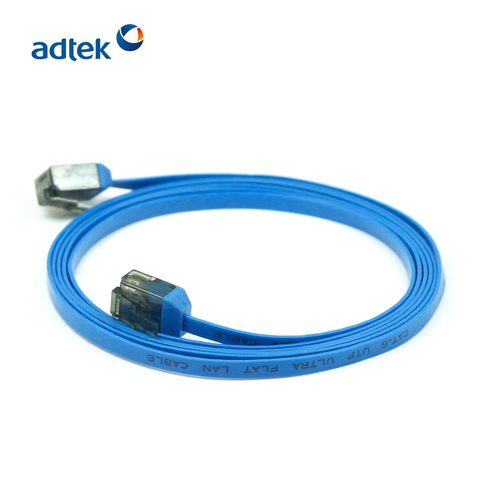 34AWG 550 Mhz UTP Tinh Khiết Dây Đồng Trần Cat6 Flat Ethernet Vá Cáp