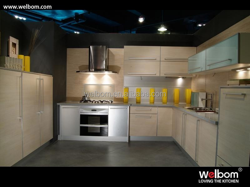 2015 Melamine Kitchen Cupboard Design With Lift Up Doors