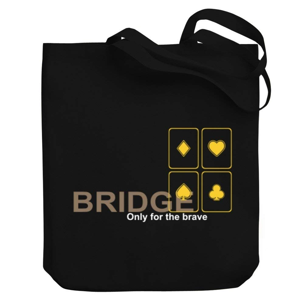8c865de96af1 Get Quotations · Teeburon Bridge Only for the brave Canvas Tote Bag