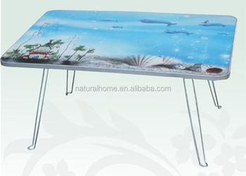 Hot Living Room Furniture E Saving Wooden Laptop Tea Coffee Fold Up Desk Adjule Small