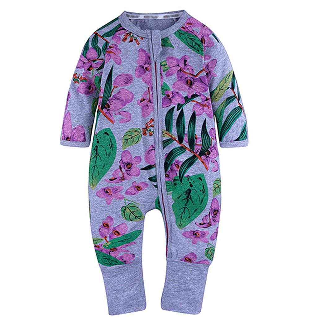Get Quotations · LOOLY Unisex Baby Girl Boys One Piece Zipper Jumpsuit Snug  Fit Cotton Footless Pajamas a74a5c53a
