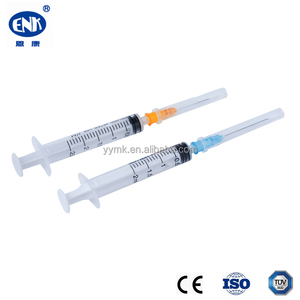 Sterile large injection plastic 5cc disposable syringes with needle
