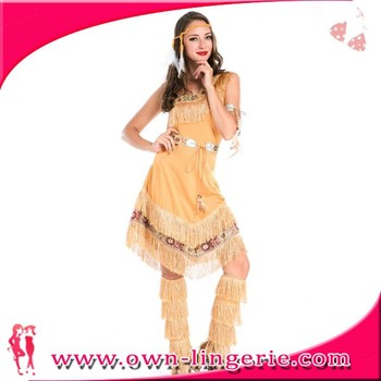 Ladies Womens Indian Adult Fancy Dress Costume Pocahontas Native