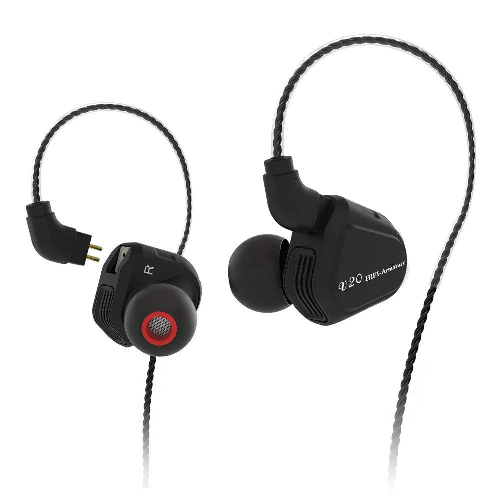 UPLOTER TRN V20 In-Ear Headphones HIFI Ear Mount Motion Subwoofer with Wheat Headphones