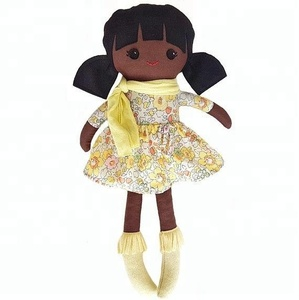 Kids preferred handmade african wholesale black rag dolls