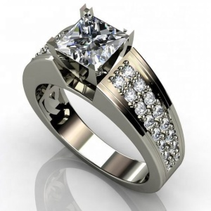 0.5ct 925 Silver Plated CZ Diamond Moissanite Wedding Ring for Men and Women SMT4696