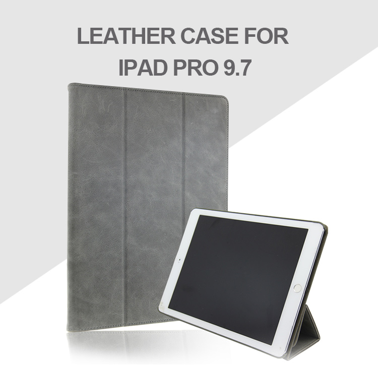 Custom Bulk Covers Cases Smart Shockproof Ultra slim leather case for iPad pro 9.7, for iPad case, For iPad pro 9.7 leather case