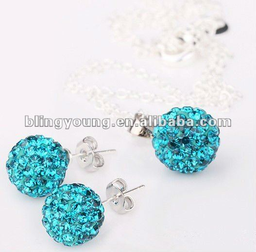 Hot selling diamond shamballa necklace BY-1138