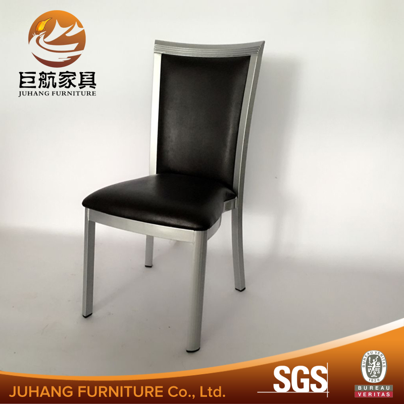 Foshan Hotel furiture stackable metal frame pu dining chair