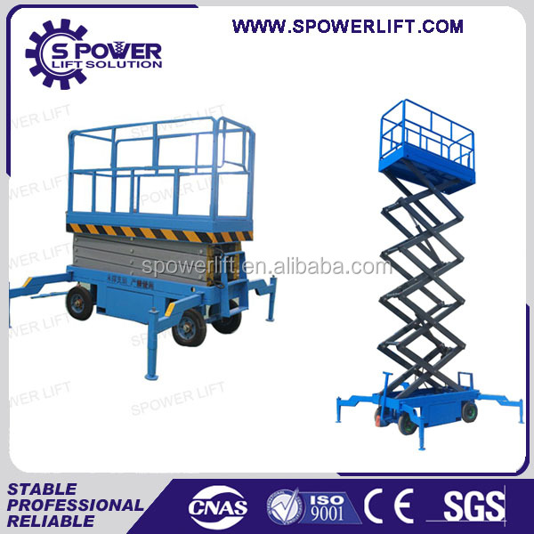 Hydraulic trailing scissor lift dump truck/mobile scissor lift tires price with CE