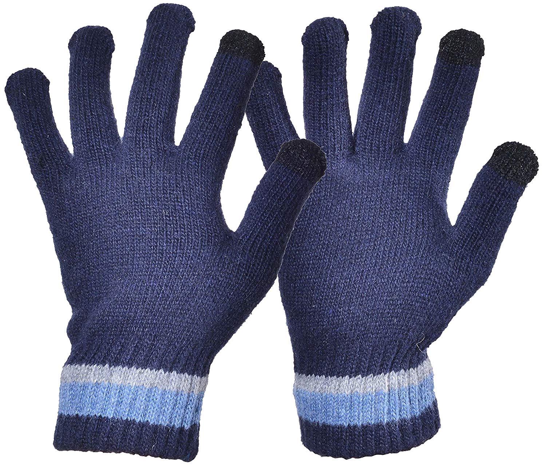 41b1108a291 Yuhan Pretty Womens Winter Wool Knit Gloves Touchscreen Warm Fleece Lined  Gloves