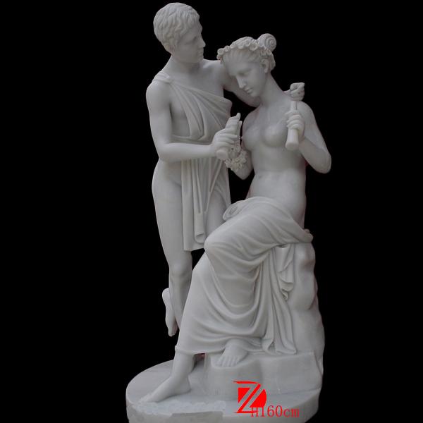 Lover Boy And Girl Garden Statue