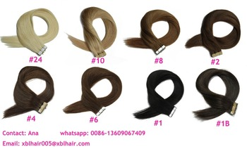 Wholesale All Color hot selling length pu strip hair extensions